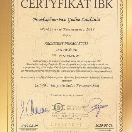 Certyfikat IBK