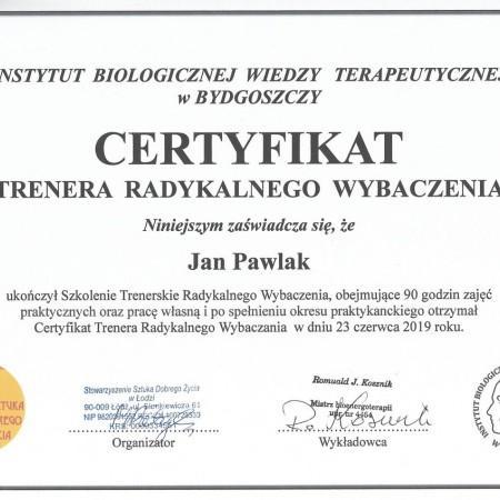 Certyfikat Trenera Radykalnego Wybaczania